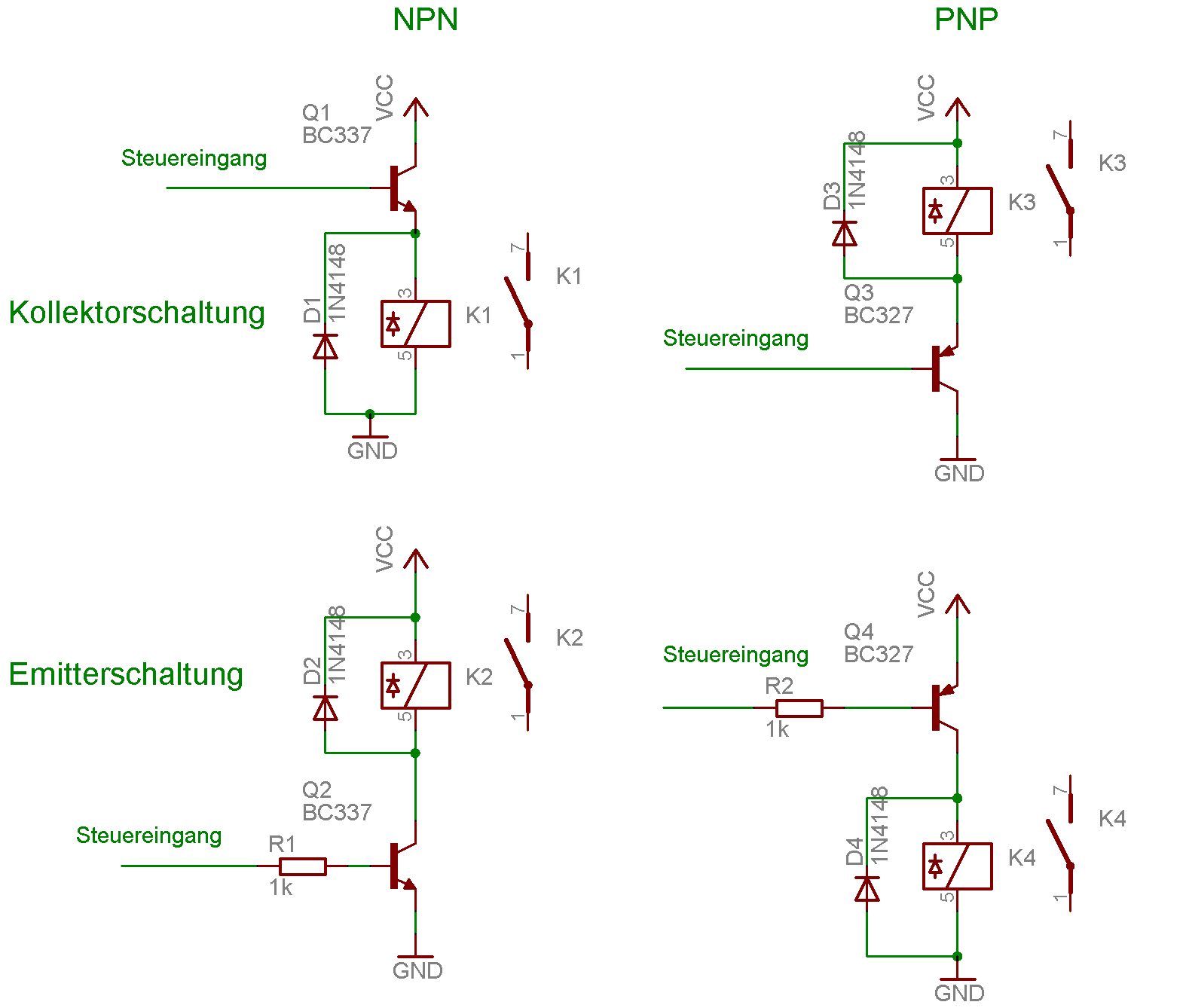 Transistor Triac Circuit Http Wwwfaszlcom Triacshtm Wie Steuert Man Ein Relais