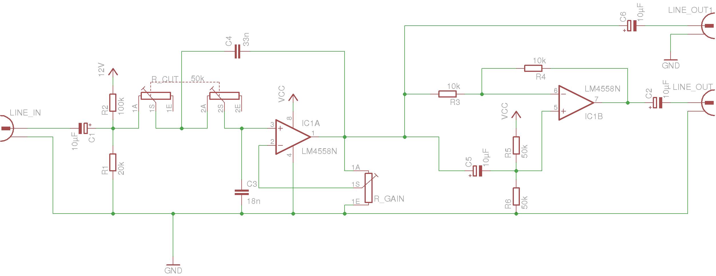 Aktiver Tiefpass für Subwoofer - Mikrocontroller.net