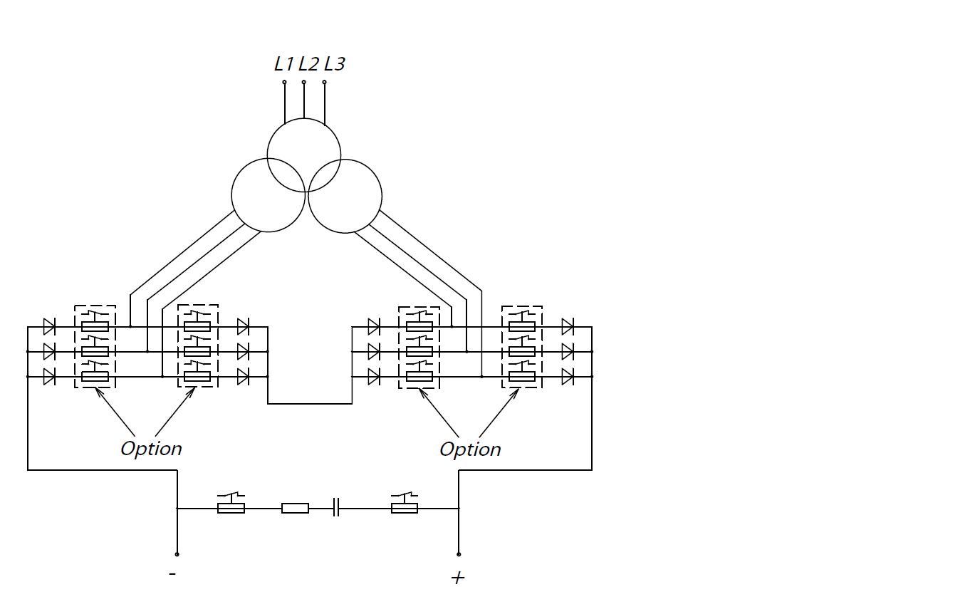 rc beschaltung 12 puls gleichrichter. Black Bedroom Furniture Sets. Home Design Ideas