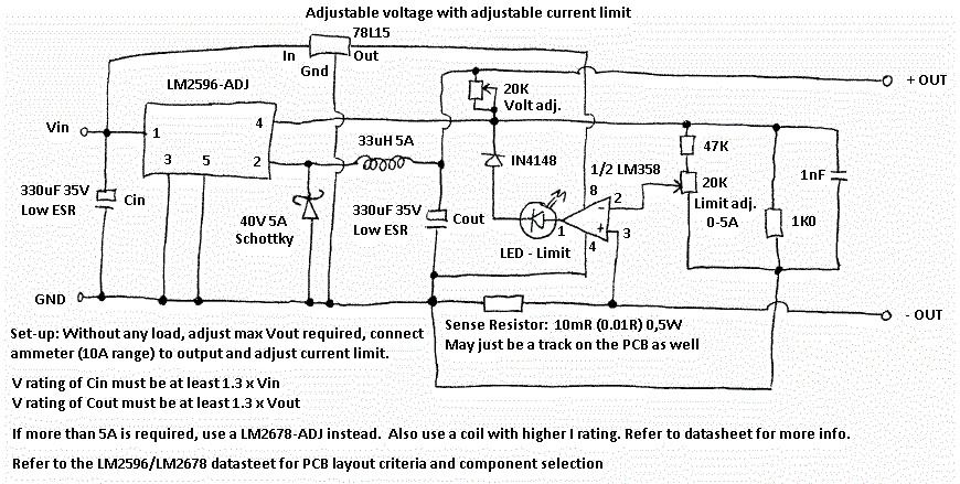 Lm2577 Mit Strombegrenzung Via Lm358 Mikrocontroller Net