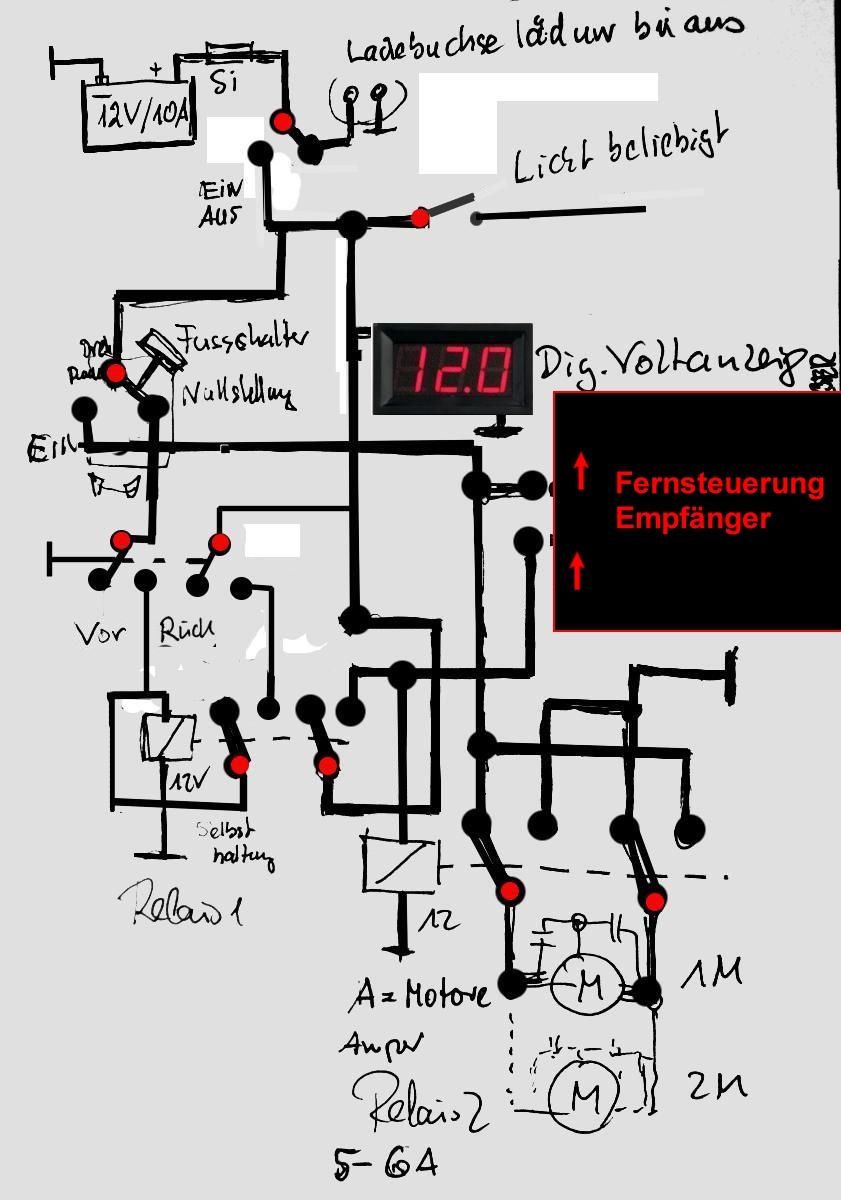 Mit 2 Relais: Vorwärts Rückwärts - Mikrocontroller.net
