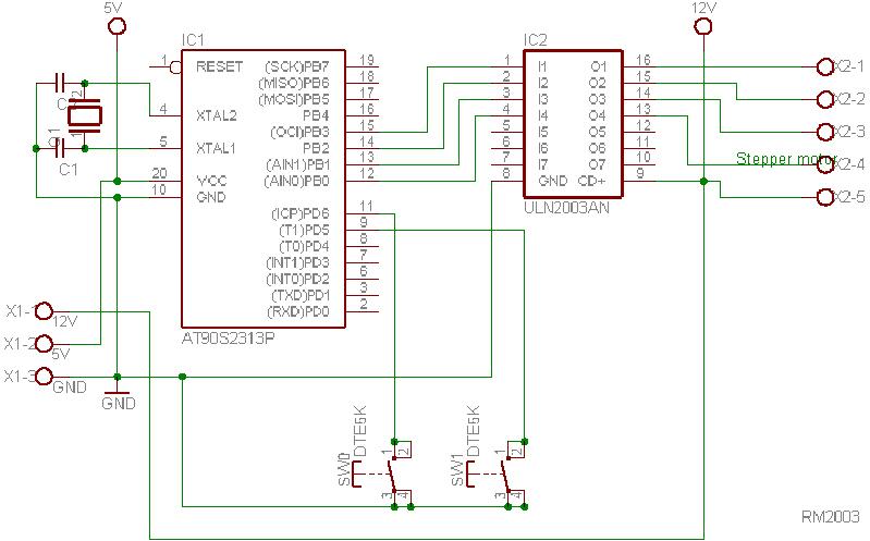 Schrittmotor mikrocontroller