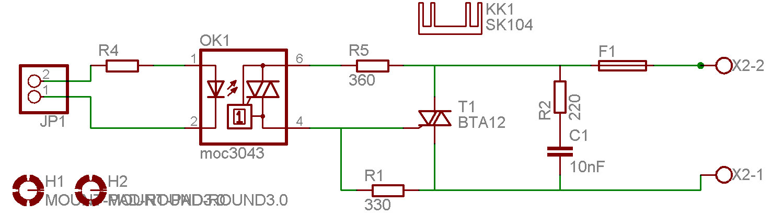 Triac am AVR - Schaltplan - Mikrocontroller.net