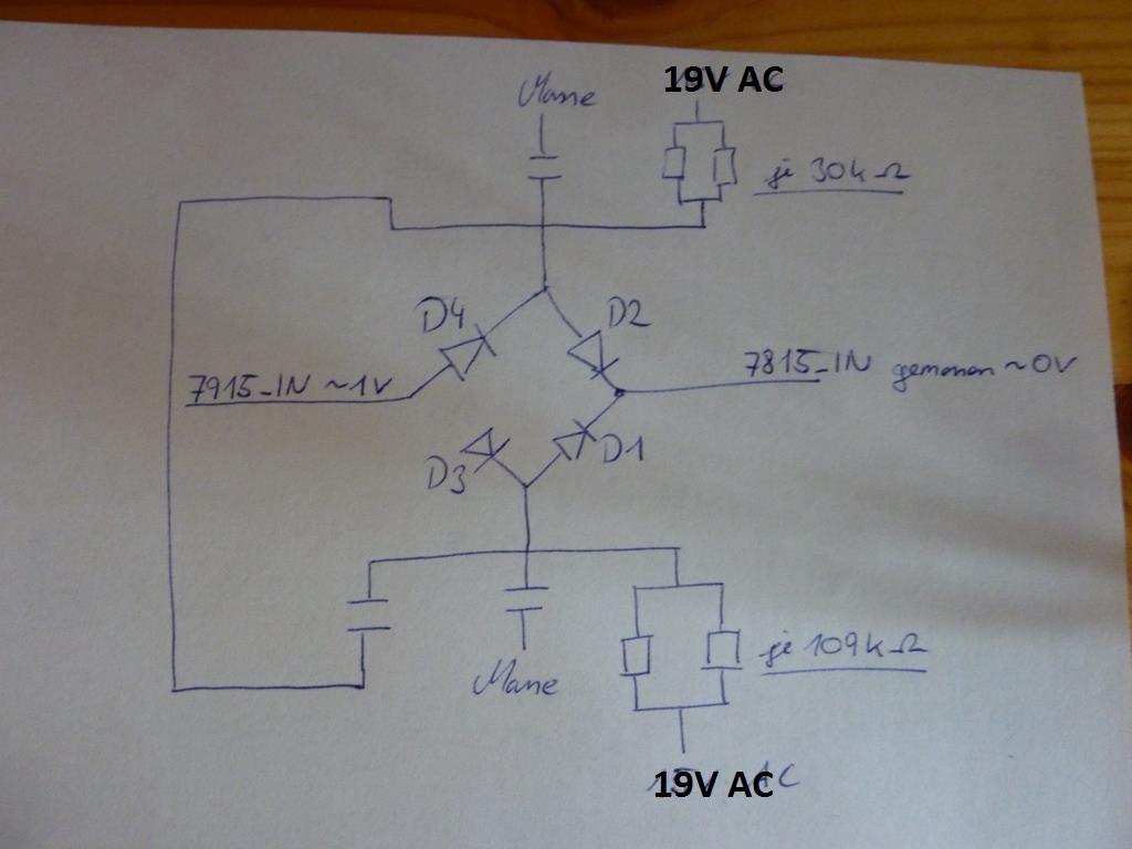 Denon AVR 1509 Spannungsregler und Dionen getauscht, jedoch ...
