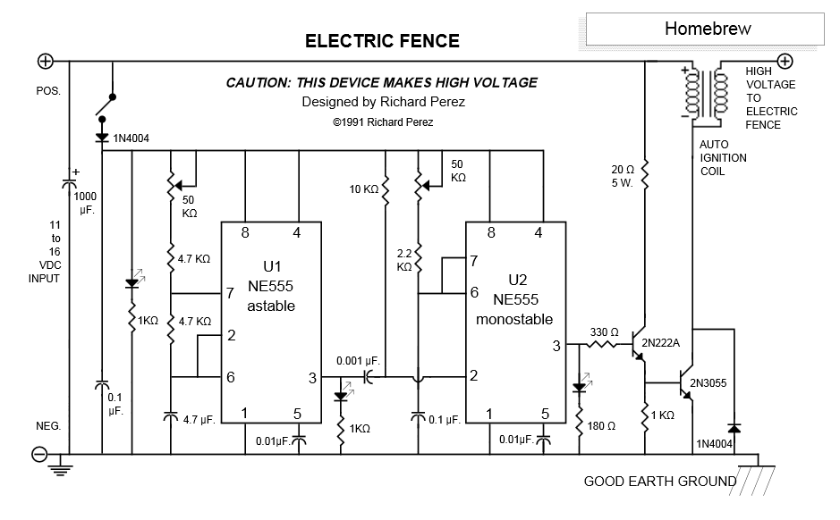 Prinzip Transistorzündung / Weidezaungerät / Impulsbetrieb ...