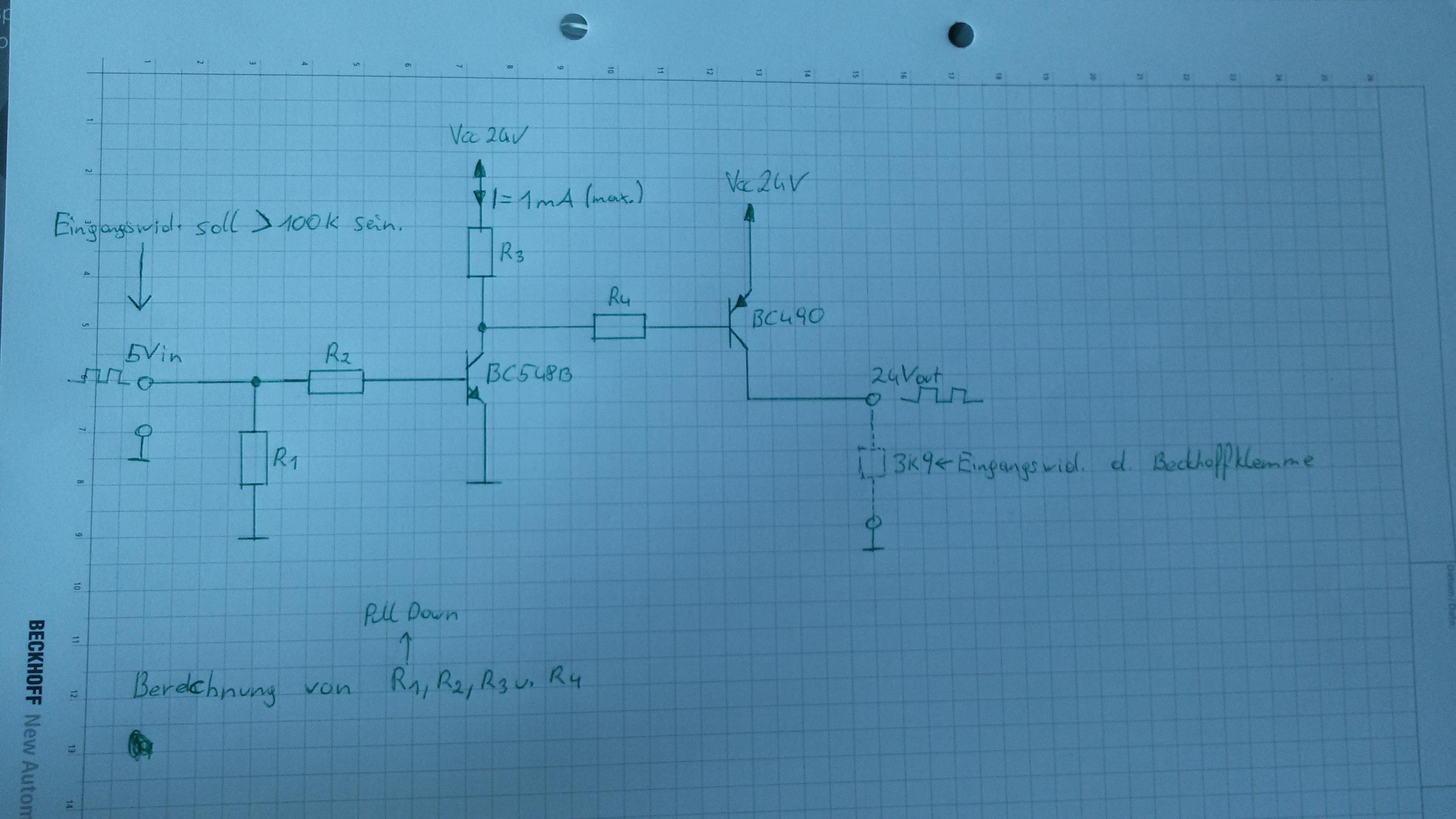 berechnung transistor verst rkerschaltung. Black Bedroom Furniture Sets. Home Design Ideas