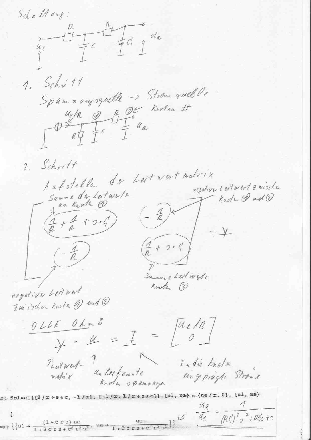 Bertragungsfunktion rc kettenschaltung for Knotenpunktverfahren beispiel