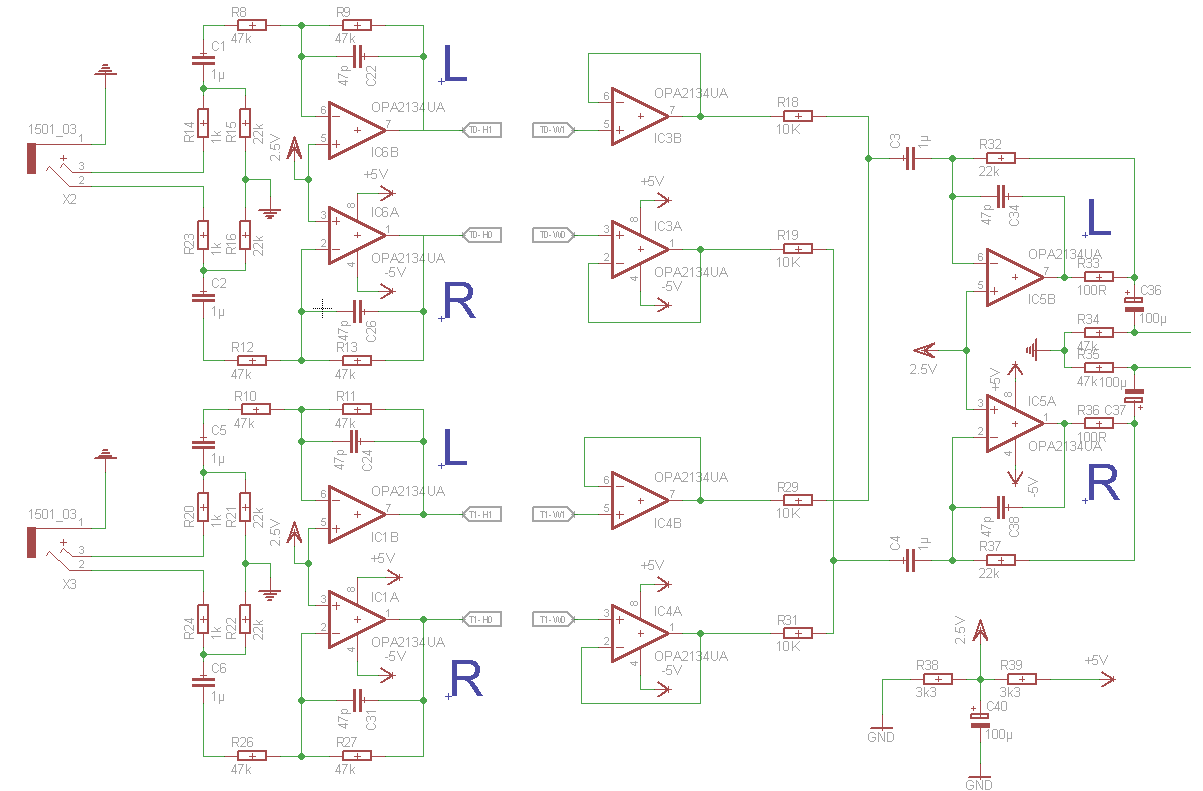 2 Kanal Stereo Audio Mischer - Mikrocontroller.net
