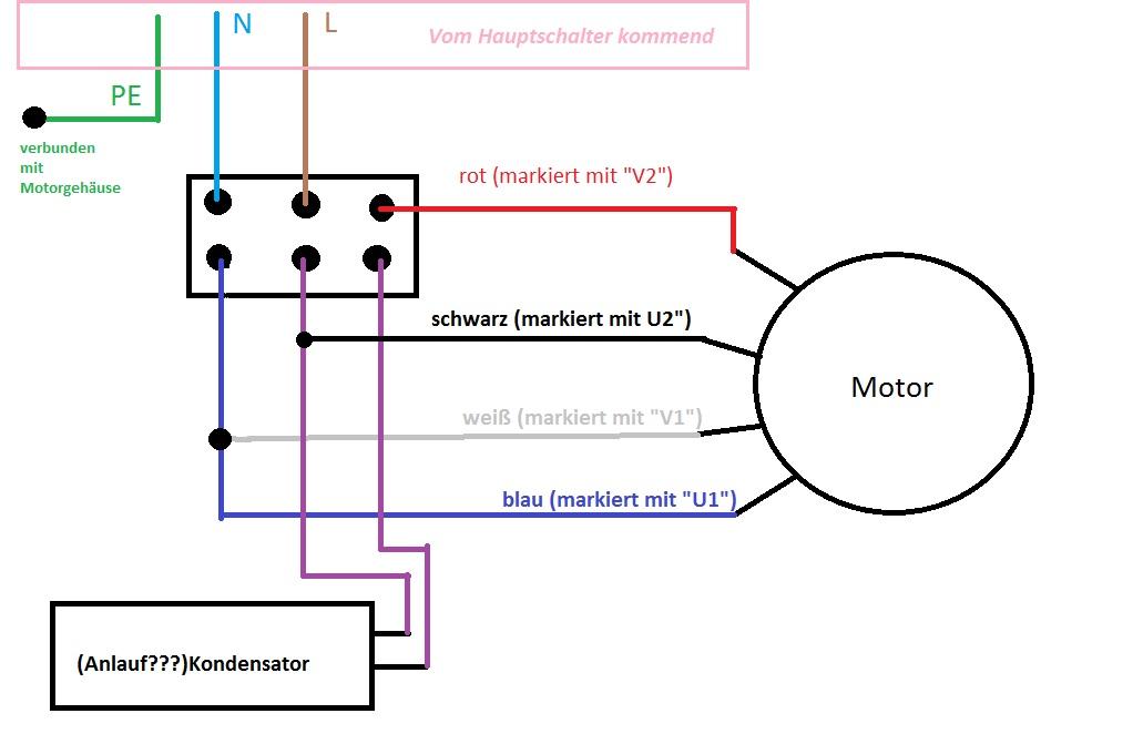 Berühmt Wechselstrommotor Schaltplan Fotos - Elektrische ...