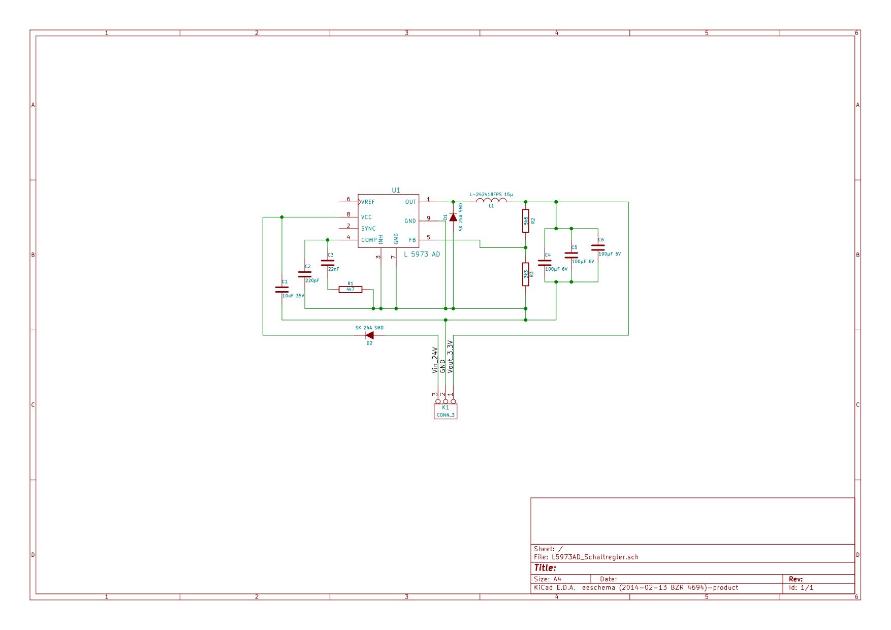 Spannungsregler mit L5973AD - Mikrocontroller.net