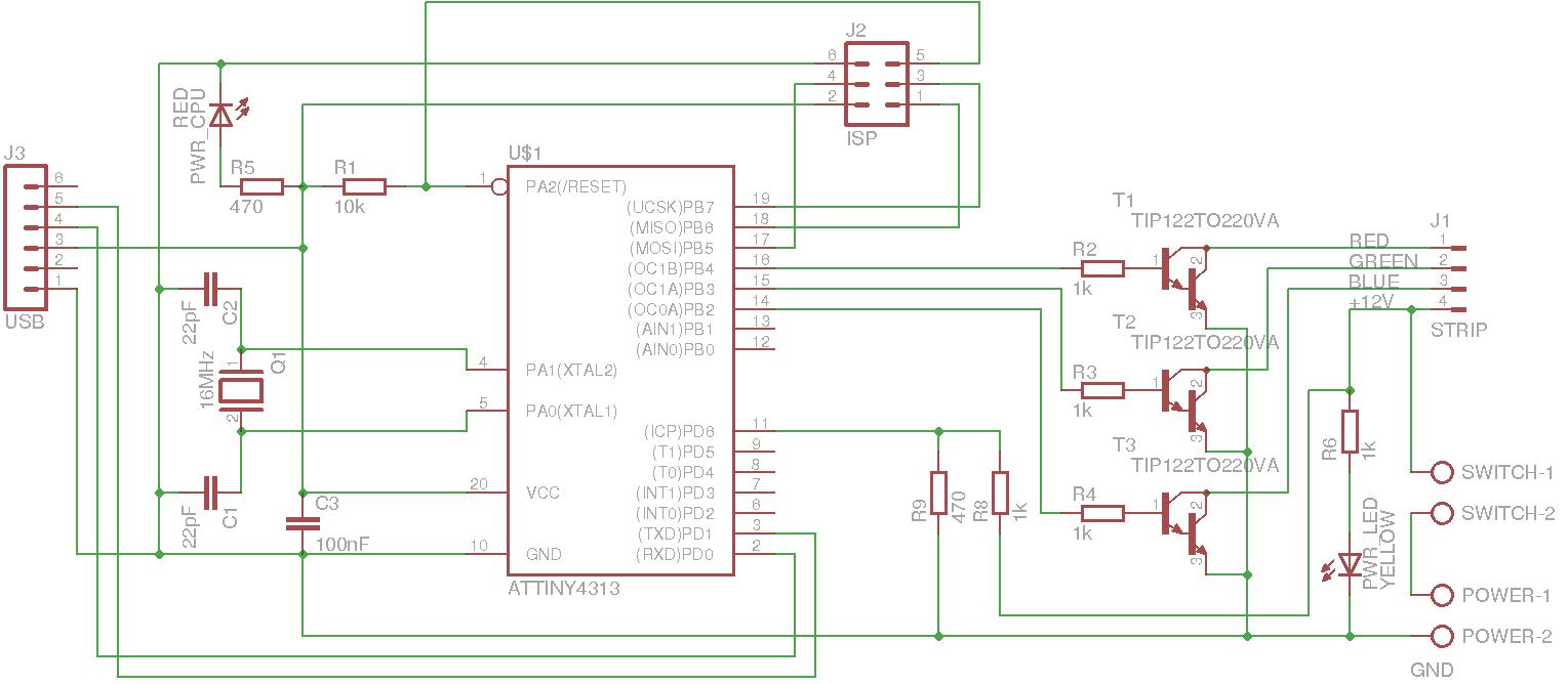 Schaltplan für RGB-LED-Steuerung - Mikrocontroller.net