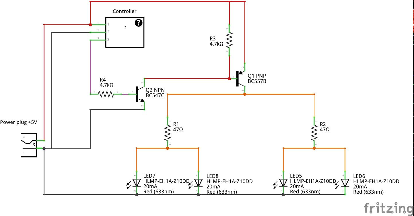 transistor als ffner pnp und npn kombiniert. Black Bedroom Furniture Sets. Home Design Ideas