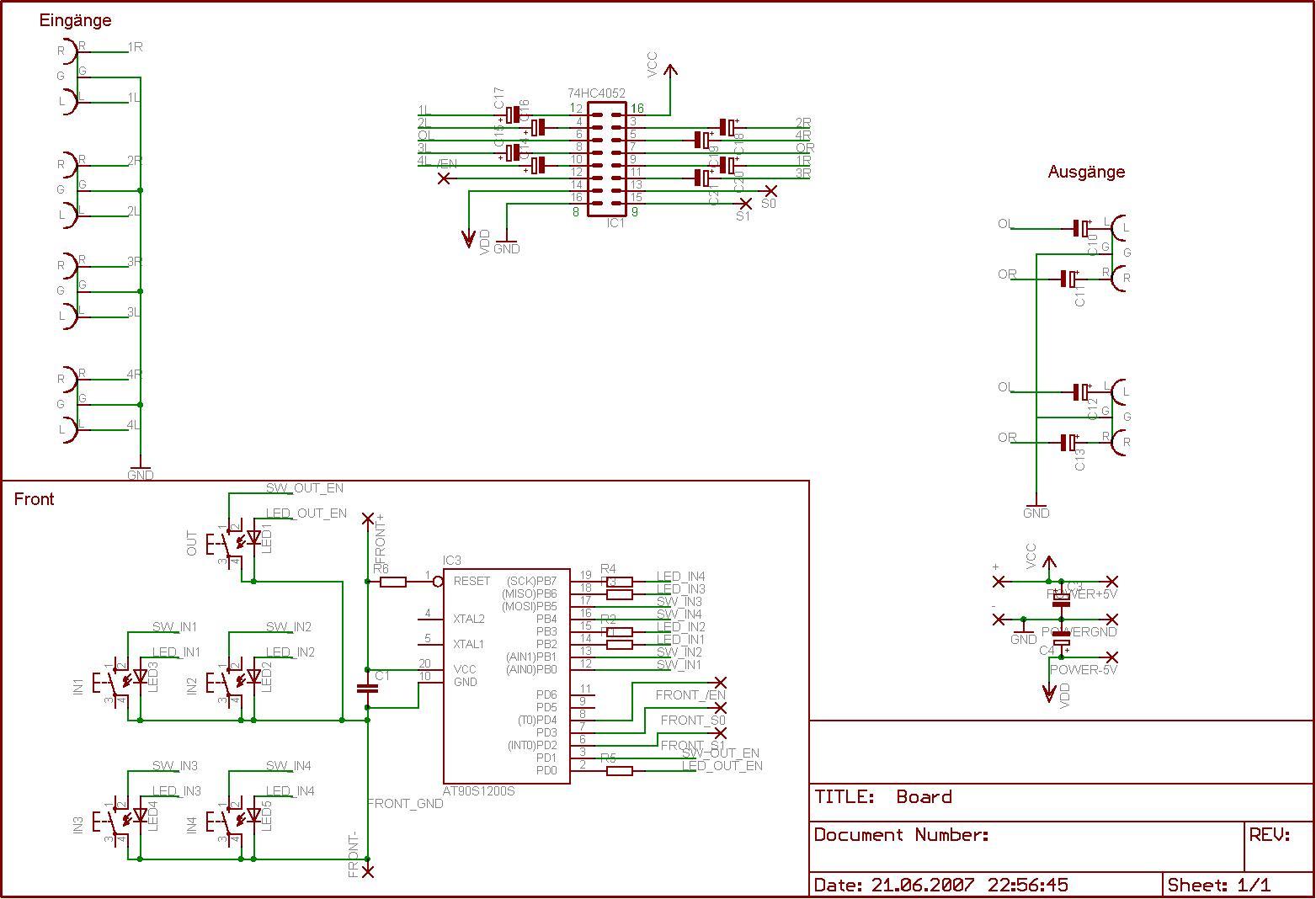 Audio Umschalter - Mikrocontroller.net