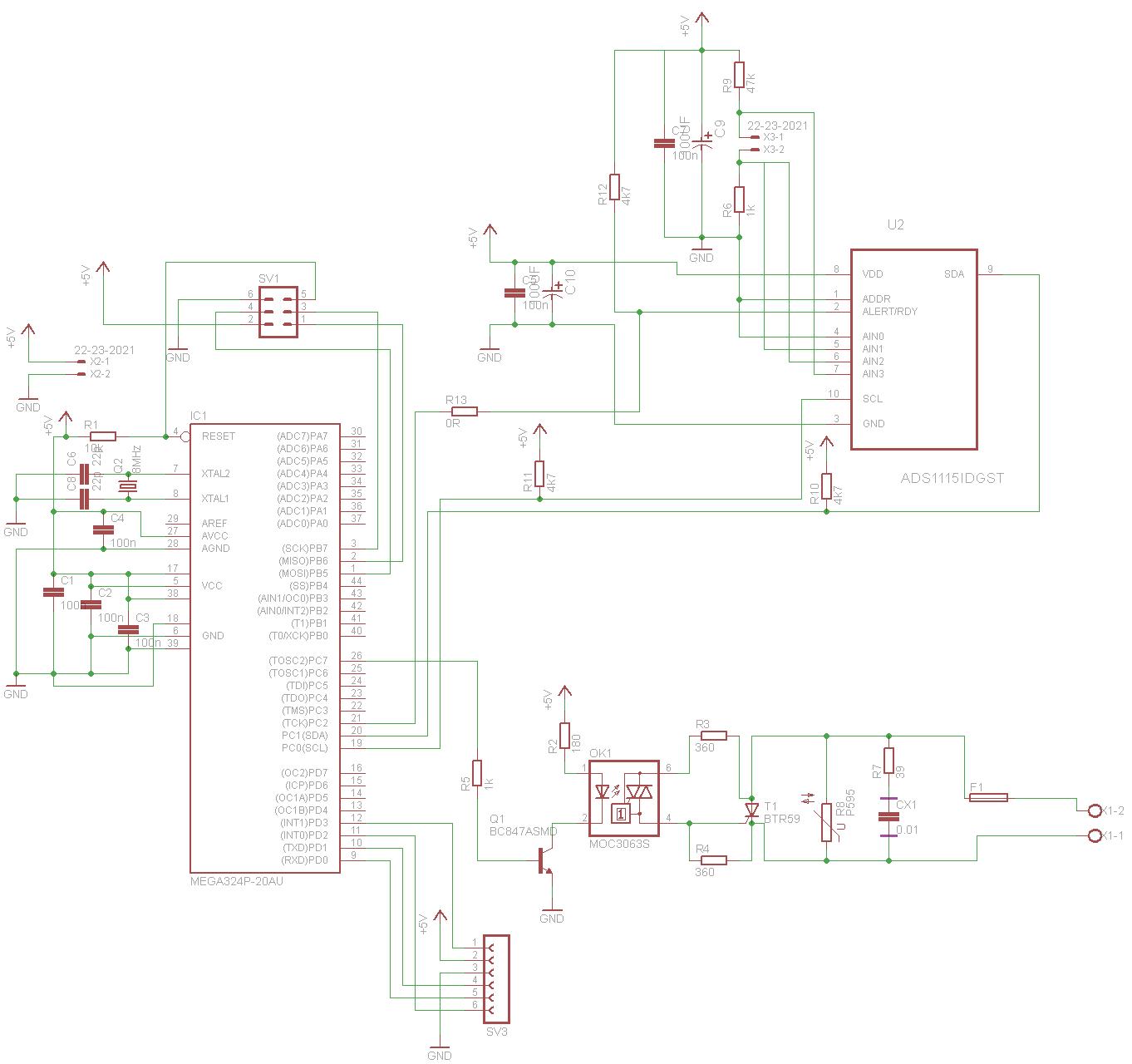 schaltplan und layout temperaturregler