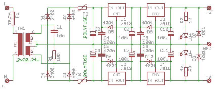 Brummfreies Netzteil für Elektronikschaltungen - Mikrocontroller.net