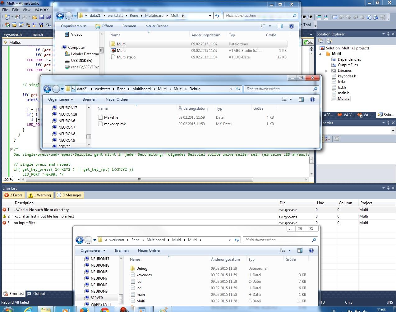 Forum pc programmierung atmel studio 6 2 no such file or directory