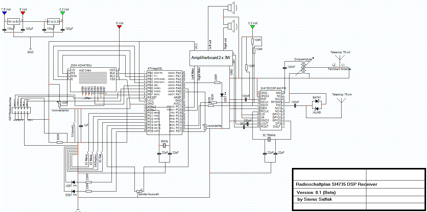 Si4735 Rds Radio Ukw Lw Mw Kw Am Fm Ta Tp Af Gt Tmc Ct Rt Pi Ps Super Afc 2wire Diagram Preview Image For Radioschaltplan