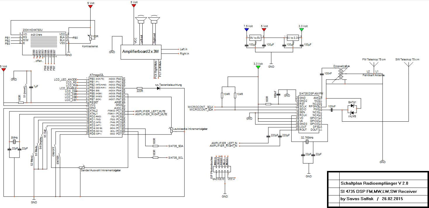 Si4735 Rds Radio Ukw Lw Mw Kw Am Fm Ta Tp Af Gt Tmc Ct Rt Pi Ps Super Afc 2wire Diagram Preview Image For Schaltplan V2