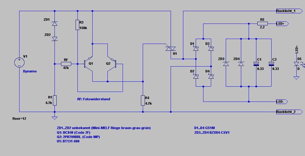 Schaltplan Vorderlicht Axa Basta Pilot - Mikrocontroller.net