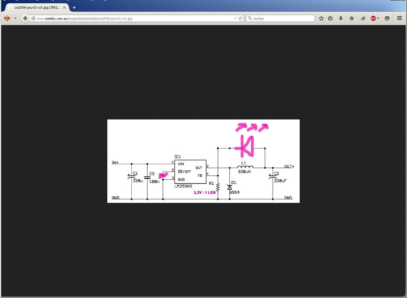 Nachgebaute Constant Current Powersource Und Mosfet Verbrennen Konstantstromquelle Fuer Power Led Mikrocontrollernet Preview Image For Zwischenablage01