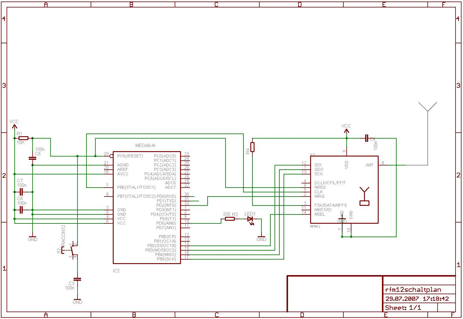 Beispielprogramm für RFM12 433MHz Funk-Module - Mikrocontroller.net
