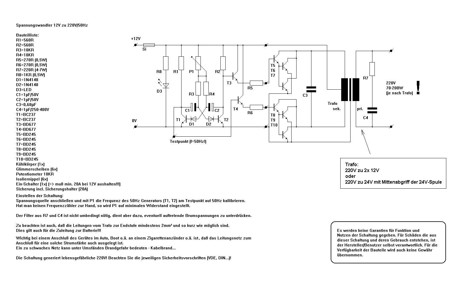 Sinuswandler 12V-230V - Mikrocontroller.net