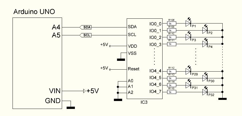 Ansteuerung pca mit atmega arduino uno