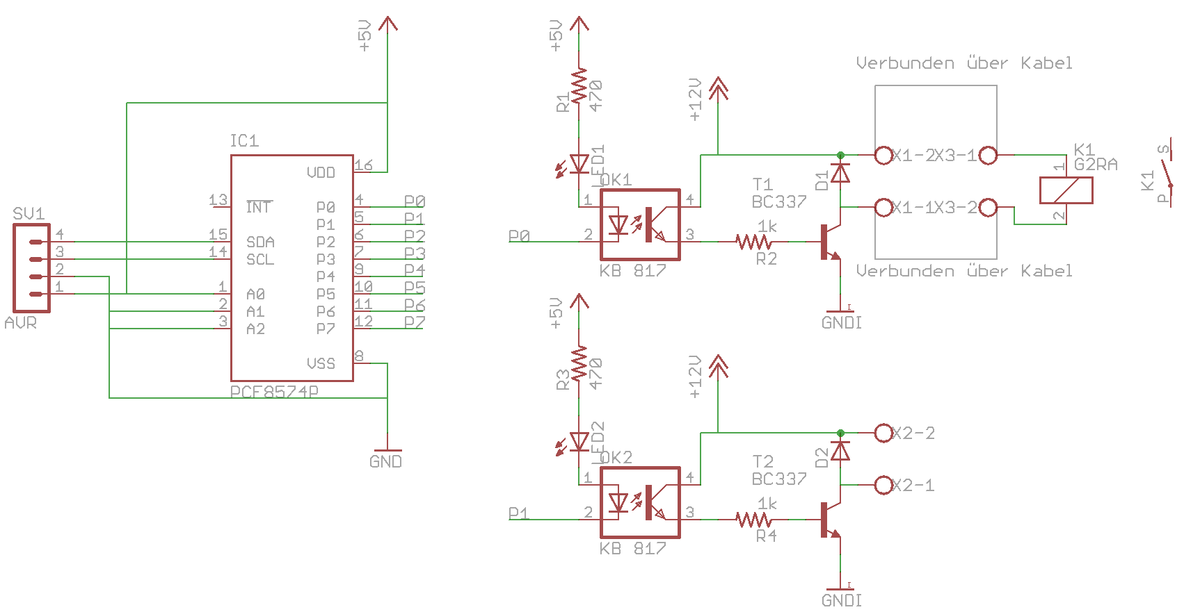 12V Relais über I2C + Optokoppler - Mikrocontroller.net