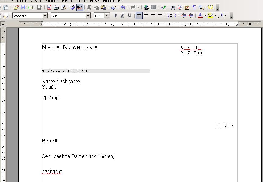 Briefe Schreiben Im Internet : Vorlage briefe schreiben online mit writeurl