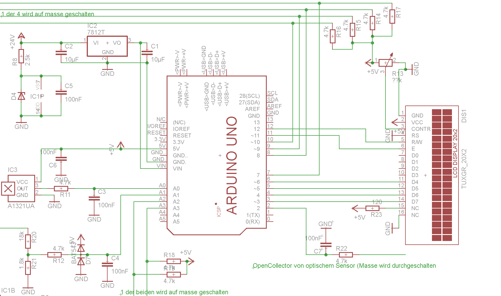 arduino uno zeigt m ll an lcd. Black Bedroom Furniture Sets. Home Design Ideas