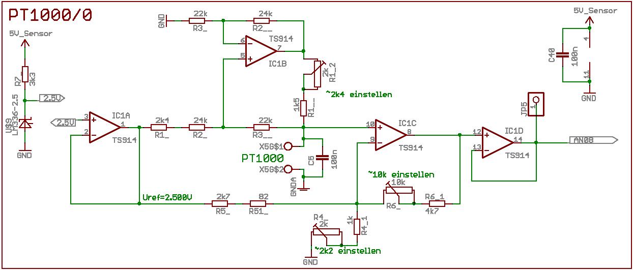 PT1000 - konkrete Schaltung - Mikrocontroller.net