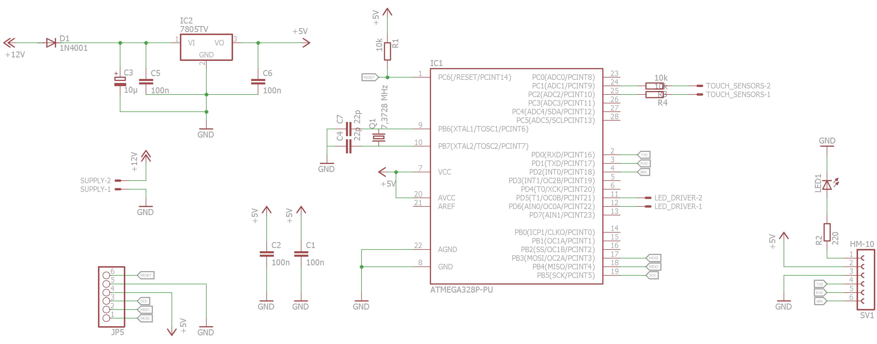 Nachttischlampe mit AVR, High-Power-LED - Schaltplan grobe Fehler ...