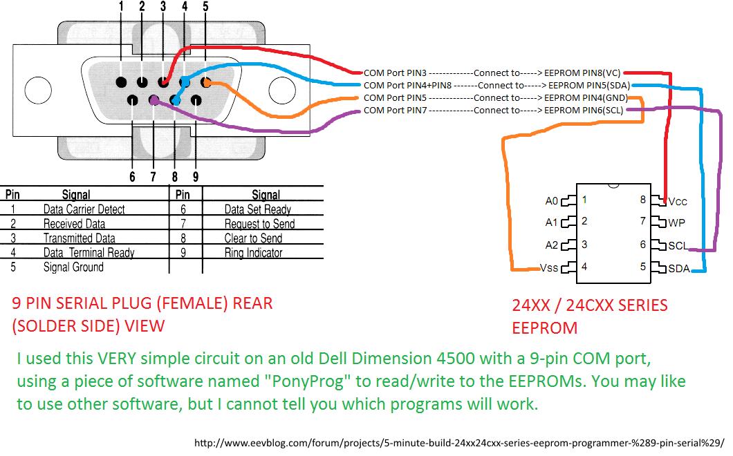 Serial Flash Memory Programmer Schematic