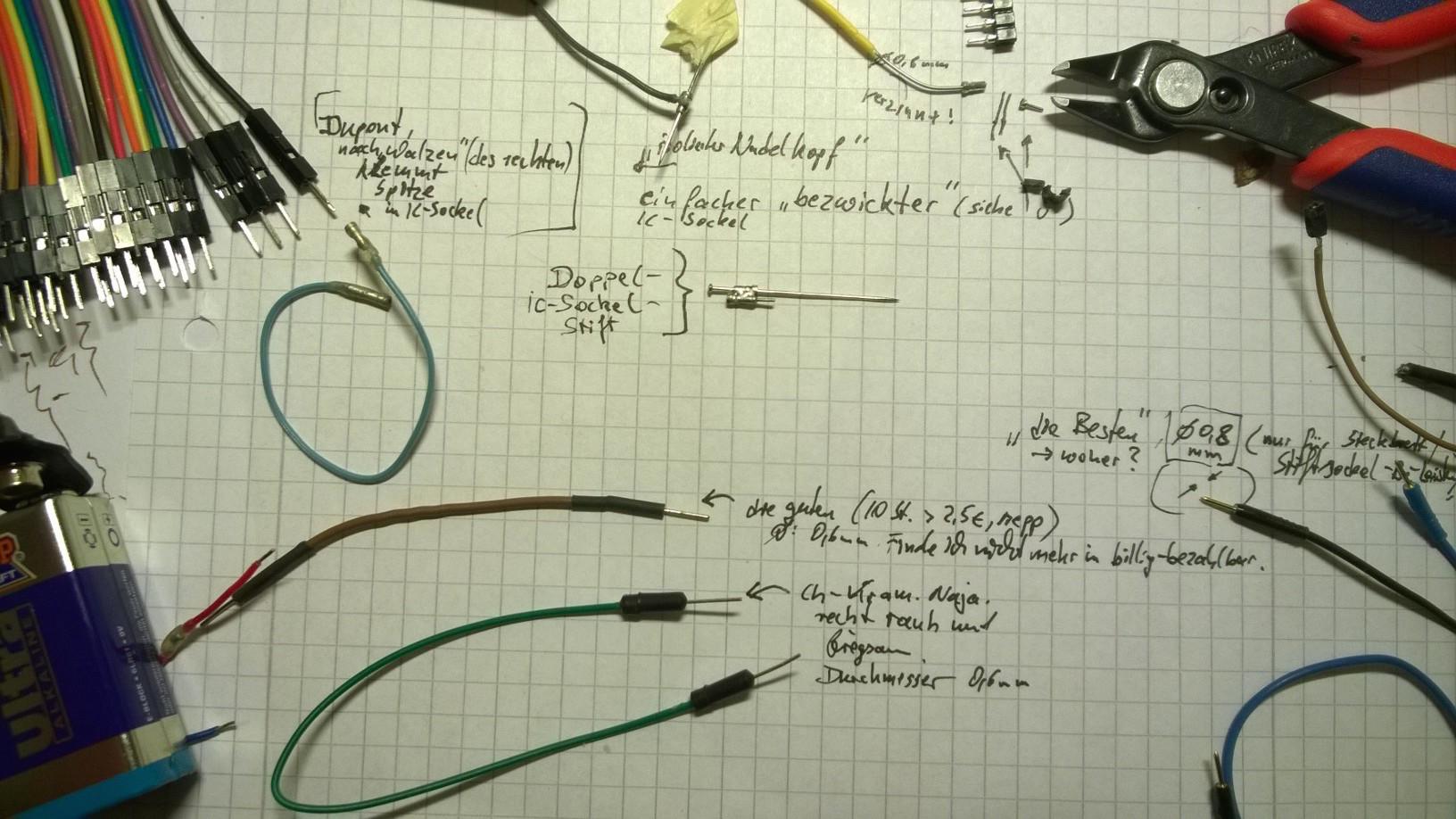 welcher Draht für Steckbrett? - Mikrocontroller.net