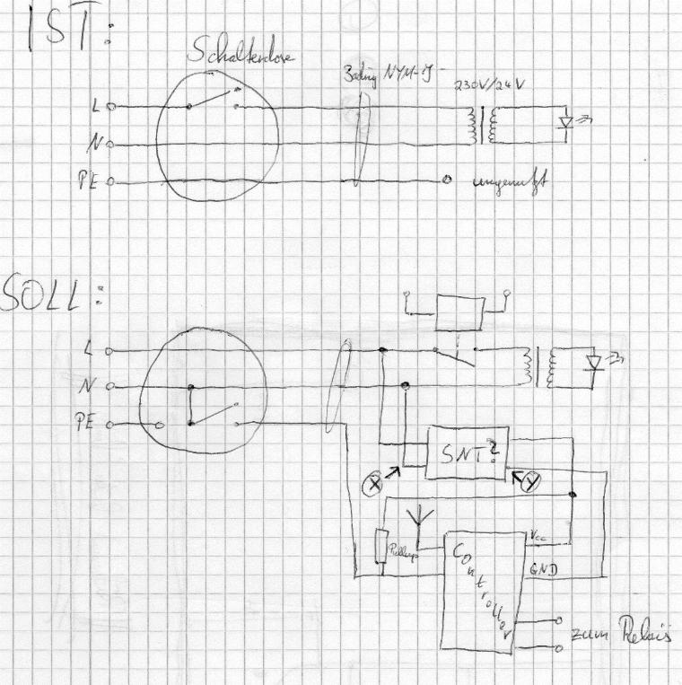 Funk-Treppenhausautomat - welches Netzteil für Elektronik ...