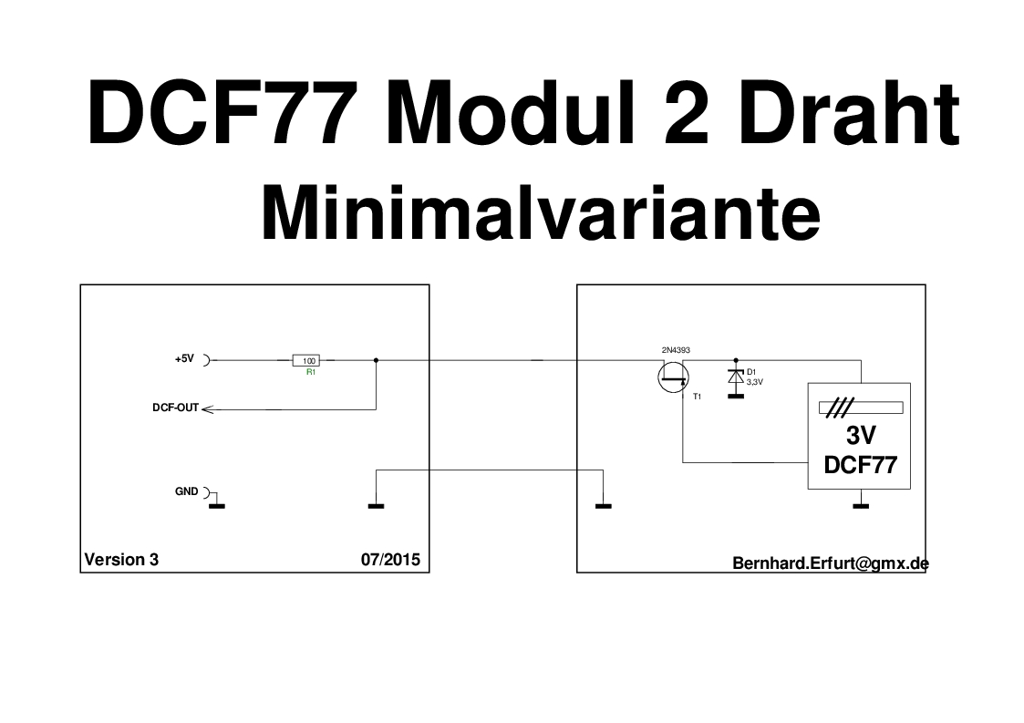dcf77 modul mit 2 draht leitung betreiben diskussion. Black Bedroom Furniture Sets. Home Design Ideas