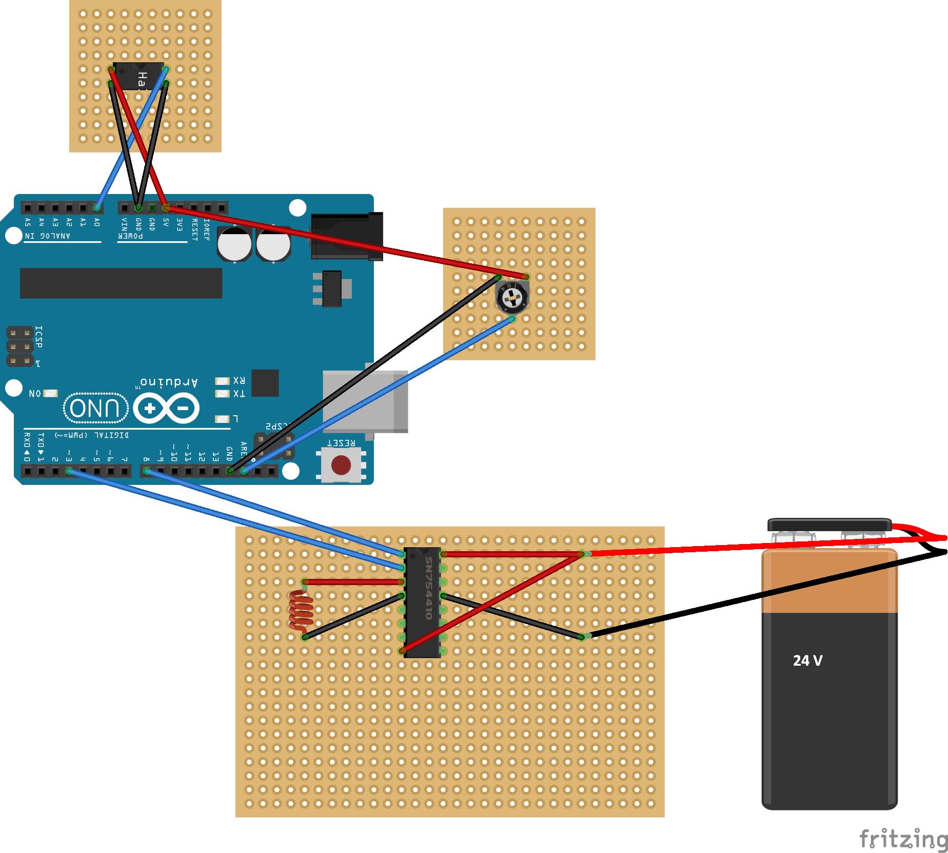 schwebende kugel mit arduino - mikrocontroller