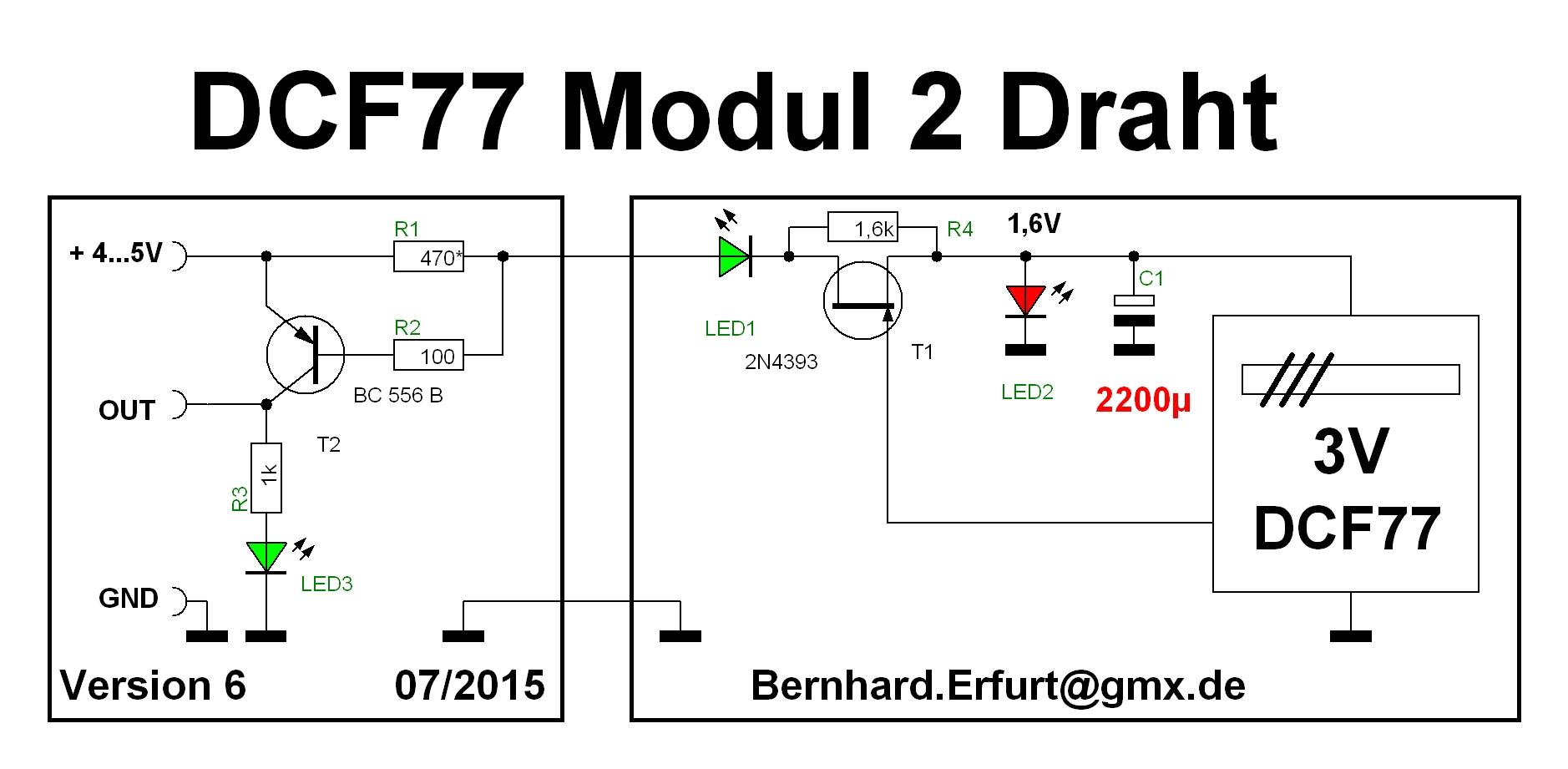 DCF77 Modul mit 2-Draht-Leitung betreiben - Diskussion ...
