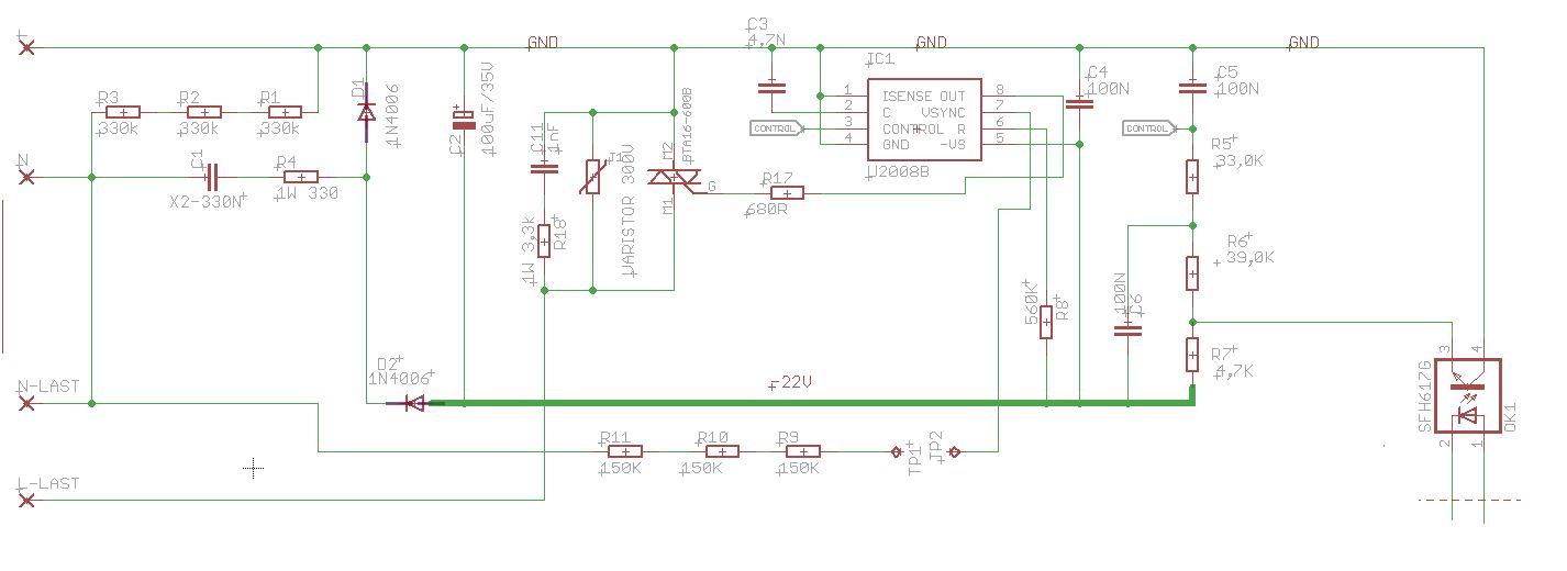 U2008B schaltet Triac immer durch - Mikrocontroller.net