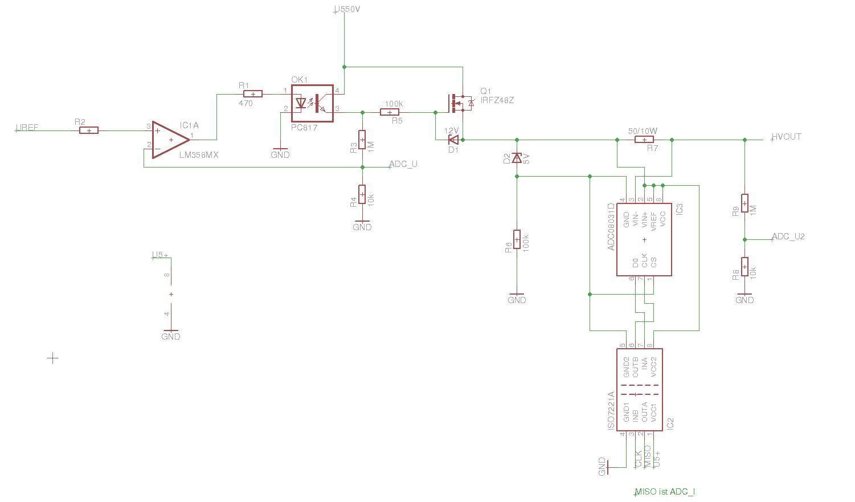 Entwicklung HV-Netzteil, Strom-Messung High-Side ...
