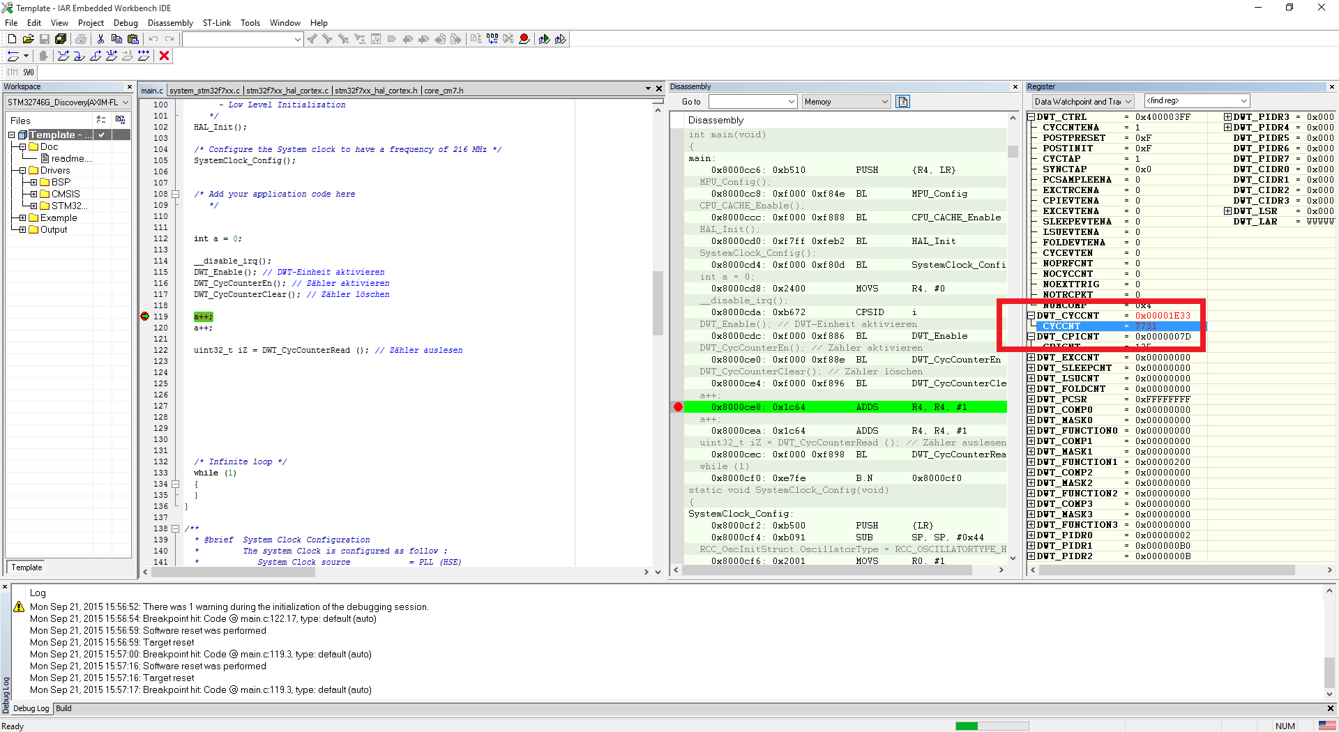 Cortex M7 und Cycle Counter (DWT) - Mikrocontroller net