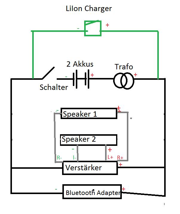 DIY Bluetooth Lautsprecher - Schaltplan so richtig ...