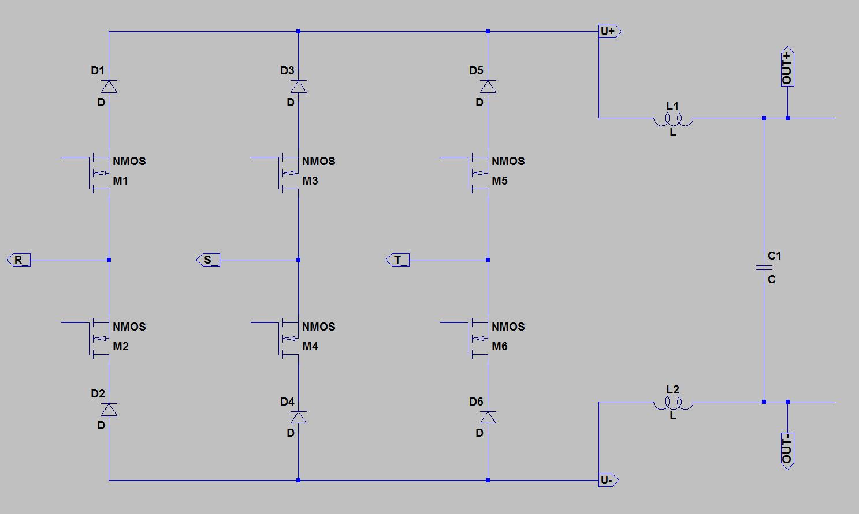 topologie 3 phasen gleichrichter mit buck funktion und pfc. Black Bedroom Furniture Sets. Home Design Ideas