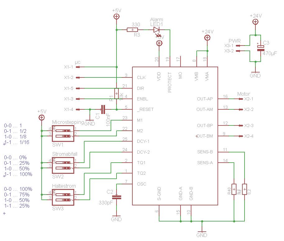 Problem mit TB6560AHQ Schrittmotortreiber - Mikrocontroller.net