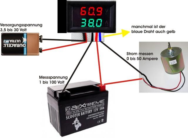 Wie Volt./Amperemeter Modul anschließen ? - Mikrocontroller.net