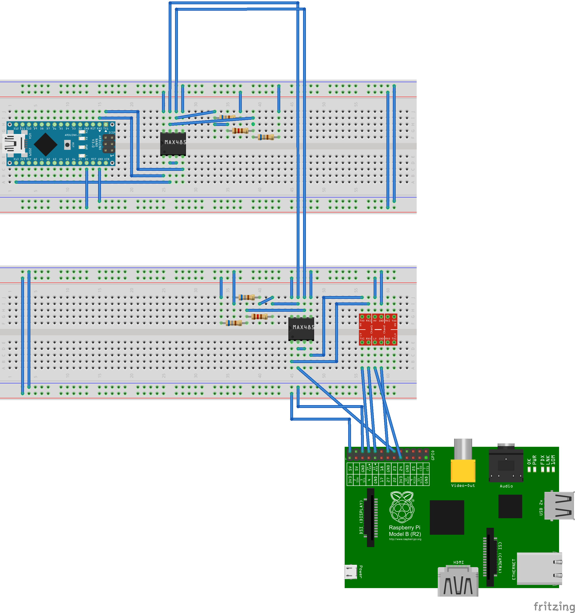 arduino nano raspberry pi via max485 verbinden. Black Bedroom Furniture Sets. Home Design Ideas