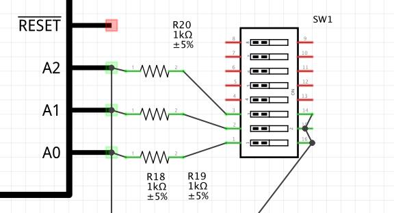 adressierung von mcp23017 via dip switch