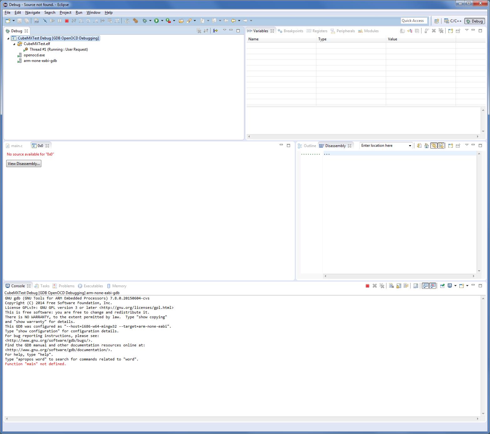 Eclipse OpenOCD STM32 Nucleo F1 blinkt nicht