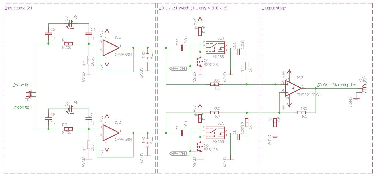 600 Mhz Differential Probe Eigenbau Mikrocontroller Net