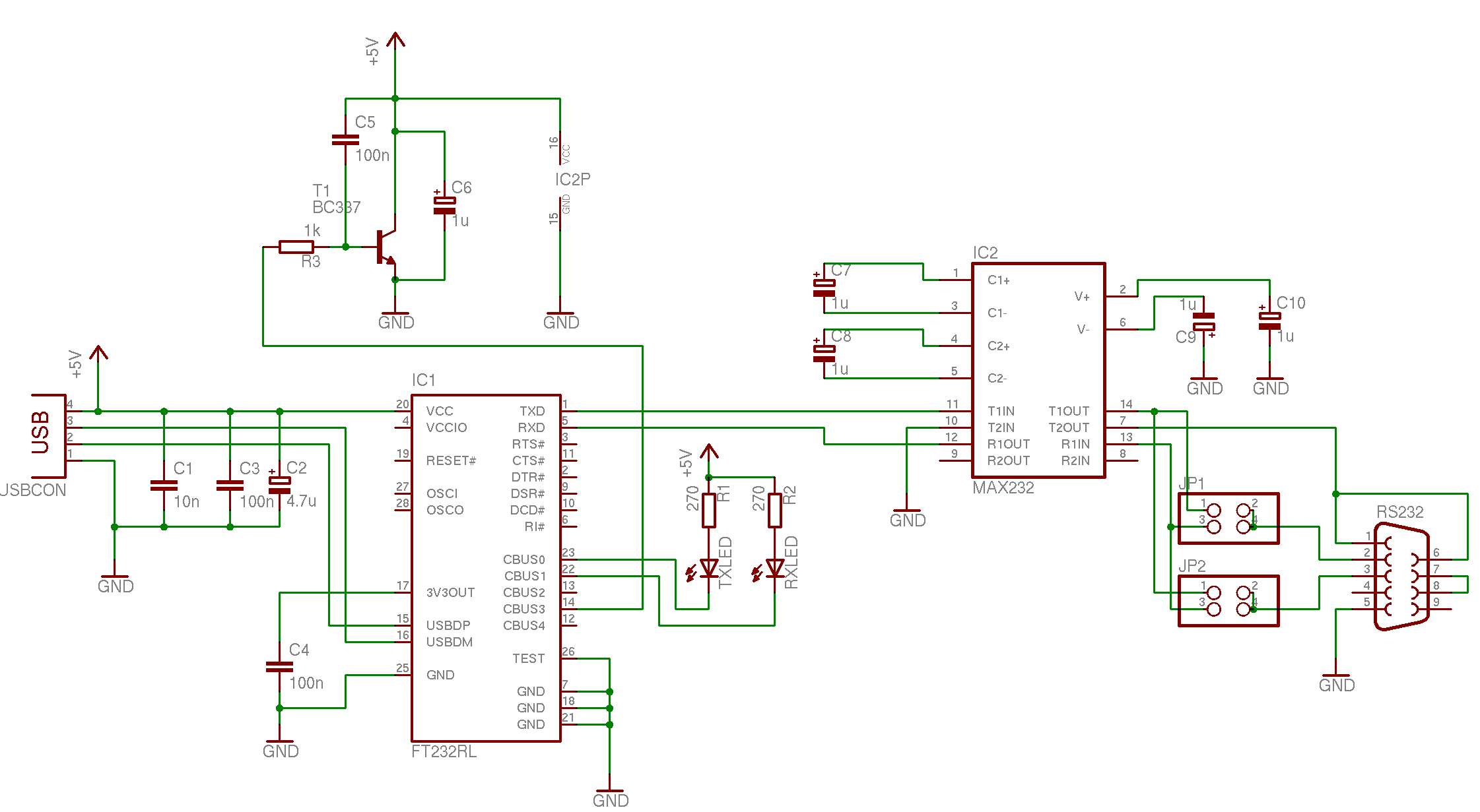 Usb Rs232 Konverter Schematic Preview Image For Usb2rs232